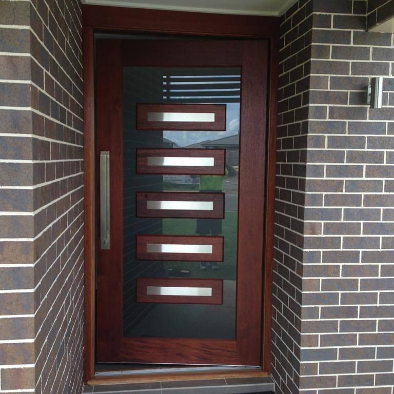 Front Door Window Frosting in Oran Park