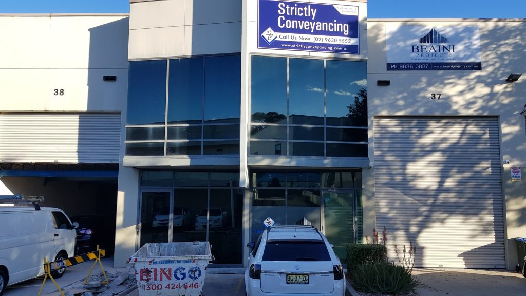 Commercial Window Tinting in Rydalmere